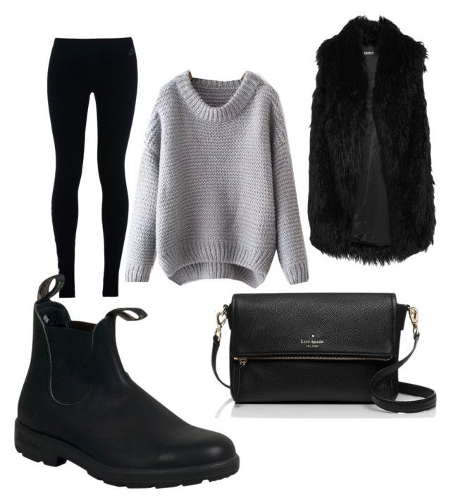 """Black and grey"" by madisonscloset on Polyvore featuring DKNY, NIKE, Kate Spade and Blundstone"