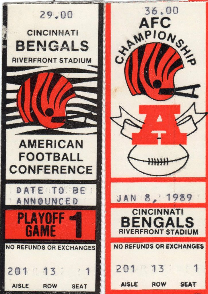 Cincinnati Bengals home playoff tickets for both rounds