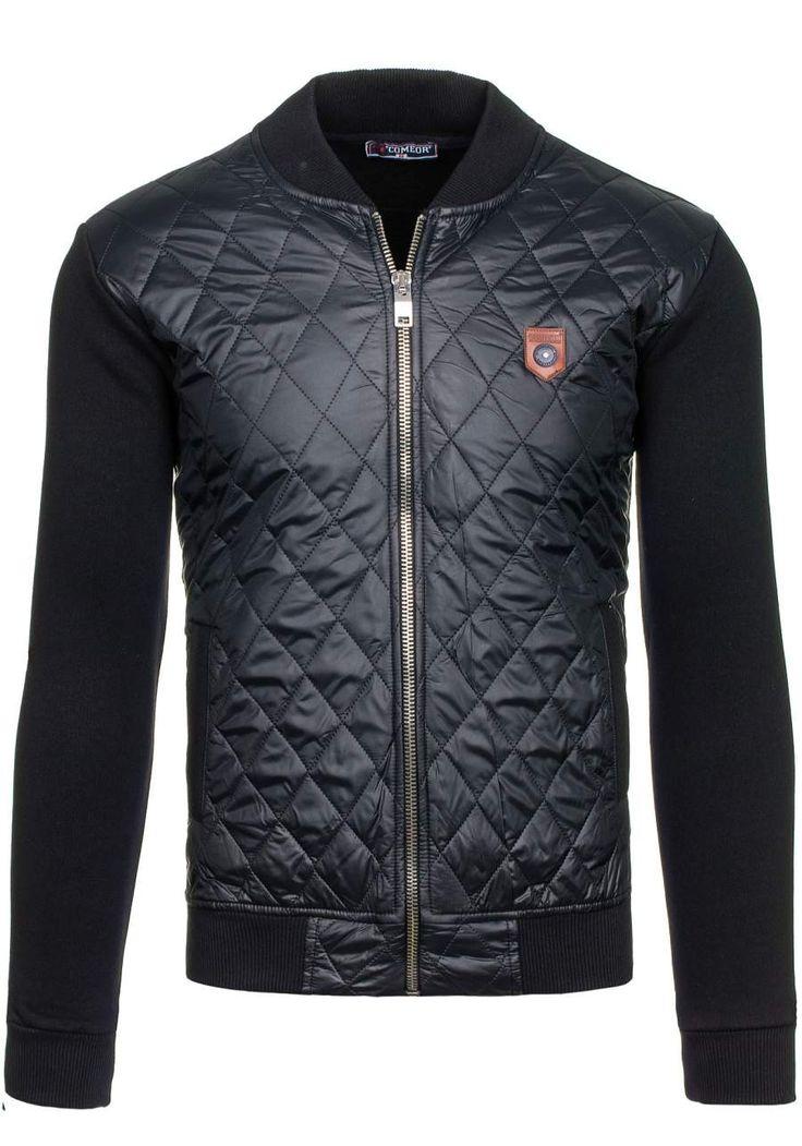 Pánská bunda COMEOR 2569-1 černá ČERNÁ | Pánská móda \ Pánské bundy \ Přechodné bundy Casual Przecena 15% | Bolf - Internetový Obchod s Oblečením | Oděv | Oblečení | Kabáty | Bundy