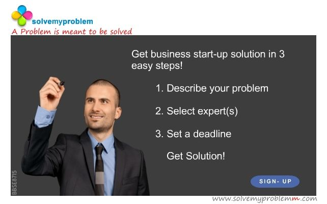 #solvemyproblemm has some of the best #Business start up #expert. Describe your #problem today and get #solution. #signup today!