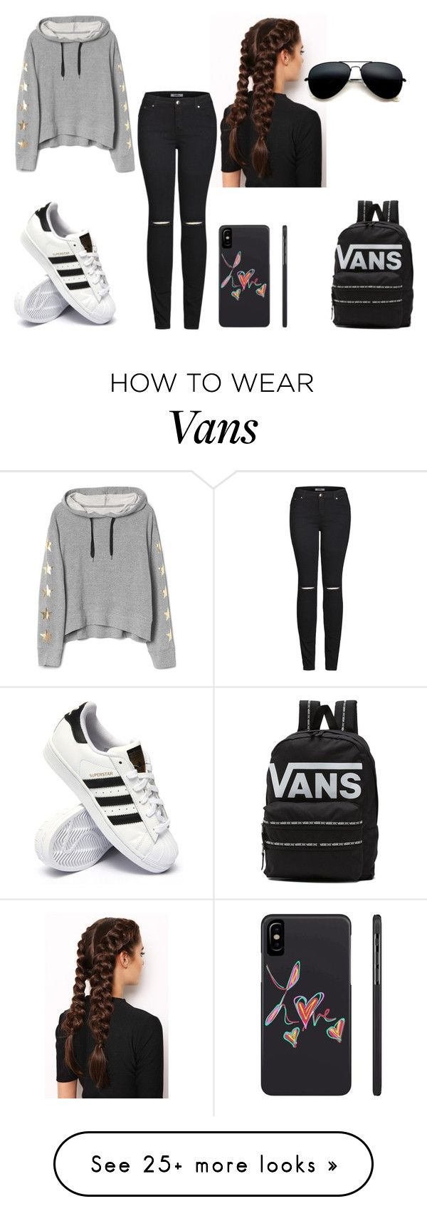 """""""hoodie day"""" by vaug7168 on Polyvore featuring LullaBellz, adidas, 2LUV and Vans"""