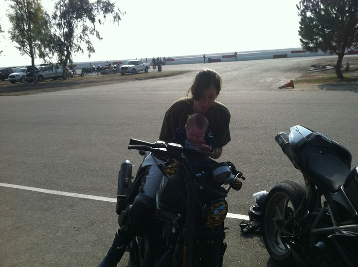 ZR 1200  My son william 6 weeks old and I at Button Willows