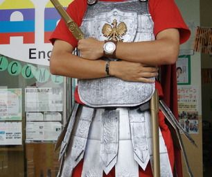 Roman-esque soldier uniform - from cardboard!