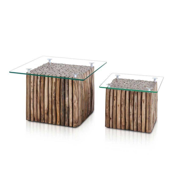 Beistelltisch Aus Teak Massivholz Glasplatte 2 Teilig Jetzt Bestellen Unter M Couchtisch Sets Couchtisch Antik Tisch Aus Edelstahl