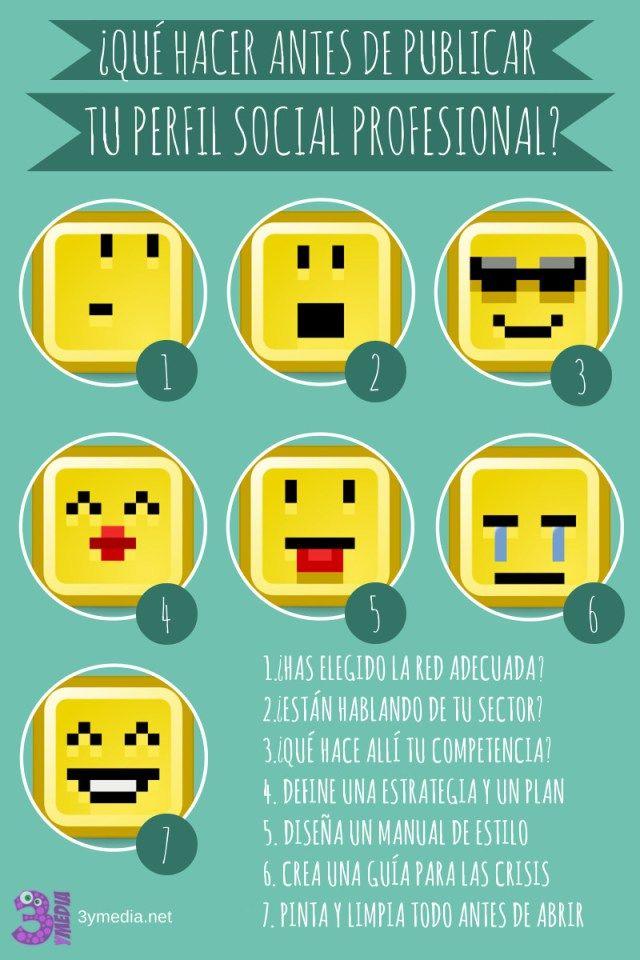 Qué hacer antes de abrir tus perfiles en Redes Sociales #infografia #infographic #socialmedia