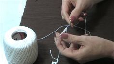 Needle Tatting True Ring. Video tutorial. It is similar to a magic ring when doing crochet. Use the tail to make the stitches and tighten it around itself; unlike the other ring (scmr), no need to knot.