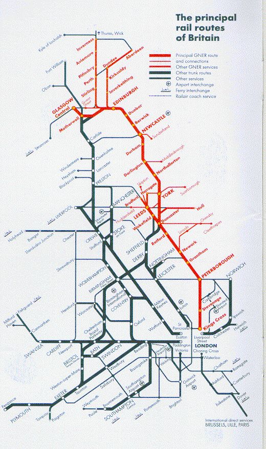 Best Railway Maps Of Britain Images On Pinterest British Rail - National rail map london