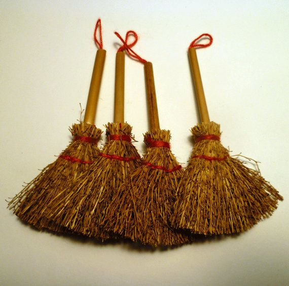 Ten craft straw brooms 3 for Straw brooms for crafts