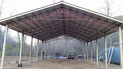 Steel truss pole barn 40x60x12  $11,000