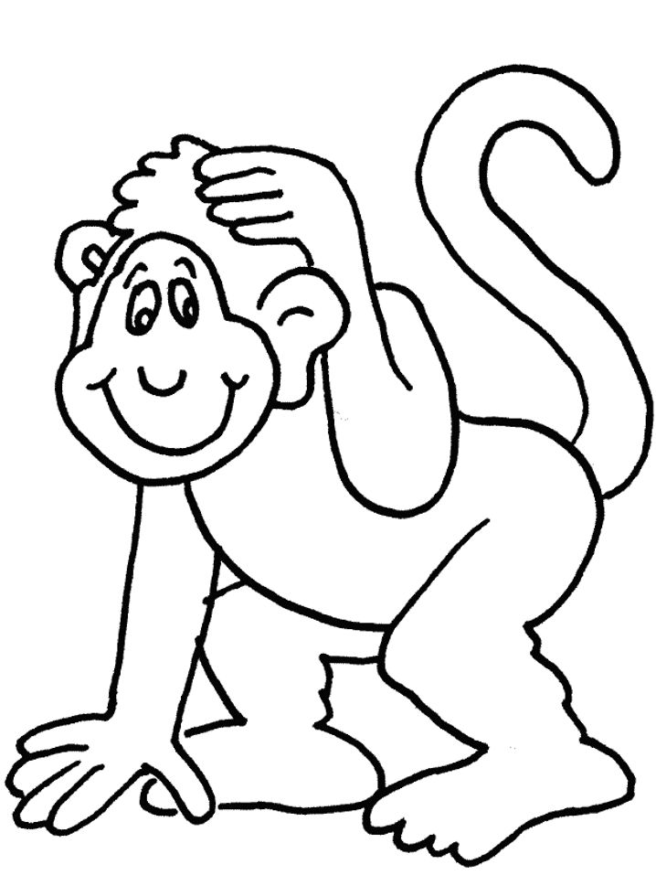 Baby monkey pictures to colour in - nike american football png ...