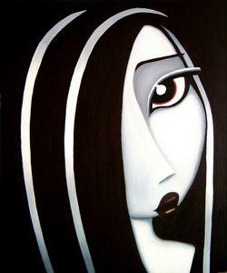 Fun, cute art paintings of women. The Girlfriends series