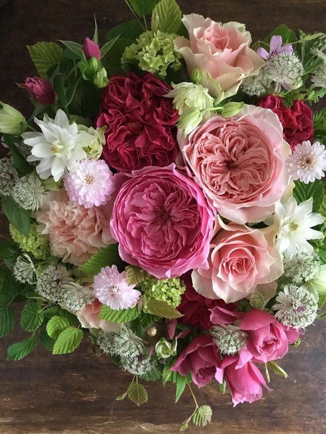 Astrantia rose peonies
