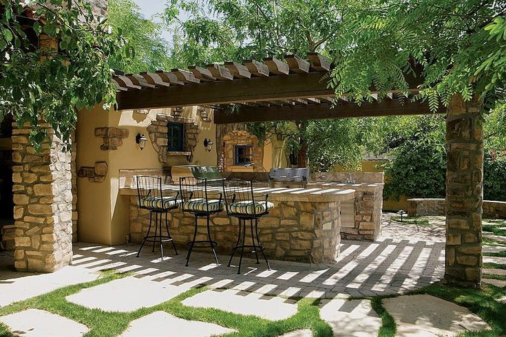 25 ideas de dise os r sticos para decorar tu patio vida - Azulejos rusticos para patios ...