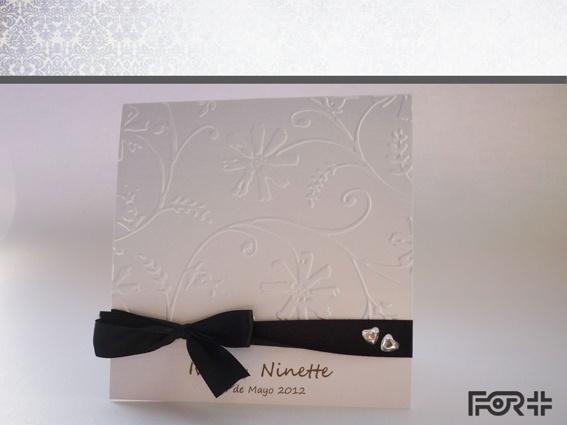Parte de Matrimonio con textura y cinta