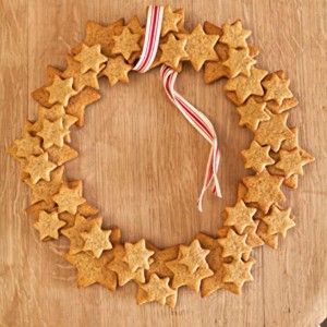 Gingerbread wreath - could use salt dough or cinnamon dough instead