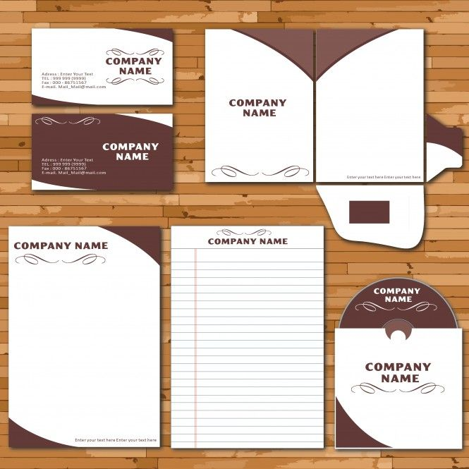 Letterhead envelope business card set vector template Law
