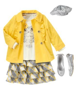 Gymboree Girl - Bright Owl  Outfit #2. No shoes or hat
