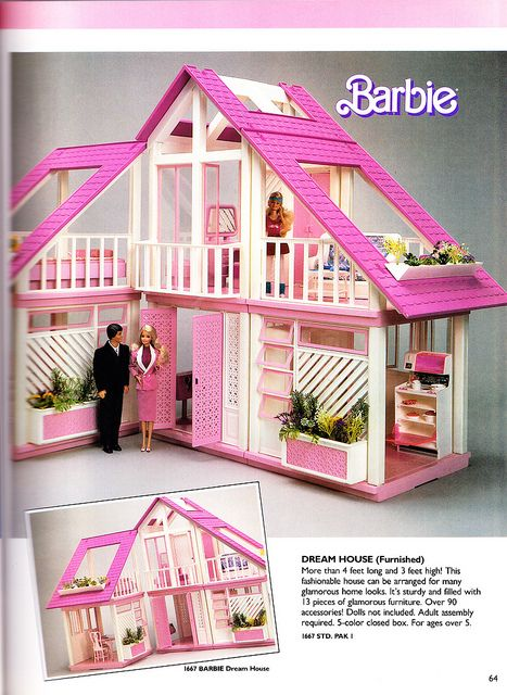 Barbie Dreamhouse......I still want this exact same one, but I want the orange and yellow one!
