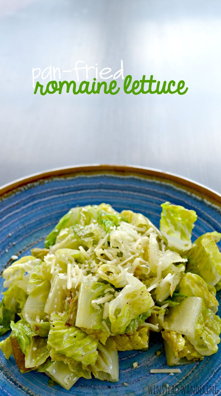 Pan-fried romaine lettuce is a fun and unique spin on a boring salad. It's just as fast as gathering all the ingredients for a good salad, but it tastes so much better.