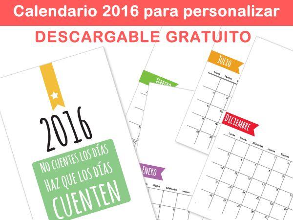 plantillas calendario para imprimir y