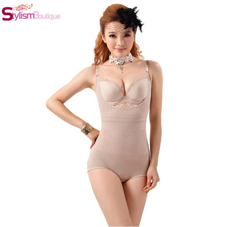 Women Floral Bodysuits Shapewear Underwear Plus size Body Shaper Waist Corsets Buckle In The Crotch High-elastic