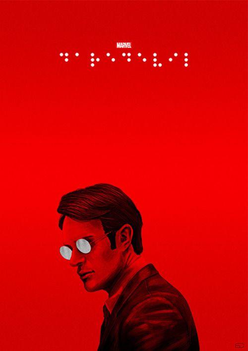Daredevil Braille Poster - Sahin Düzgün