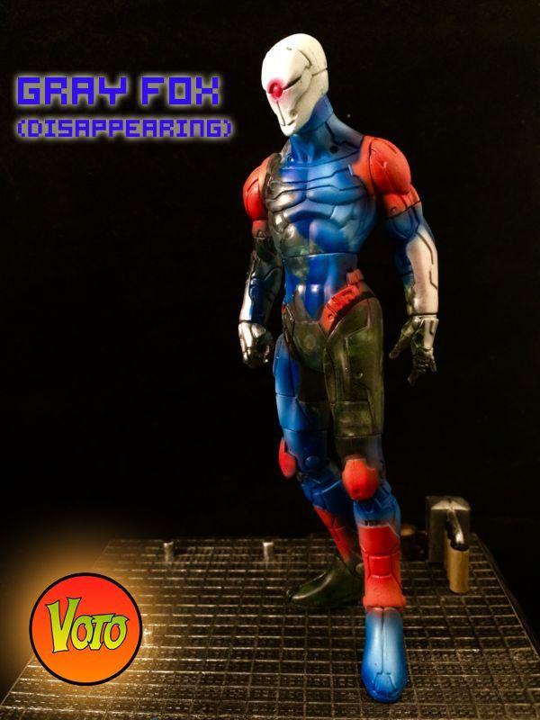 Gray Fox Cybrog Ninja (Disappearing) (Metal Gear Solid) Custom Action Figure