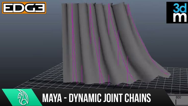 Maya Tutorial - Creating Dynamic Hair Driven Joint Chains HD by 3dmotive