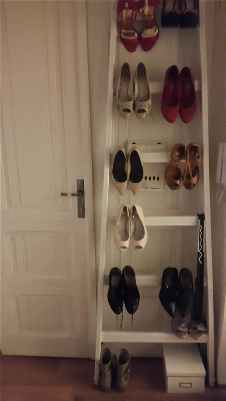 ...maximising limited space in the small hallway...
