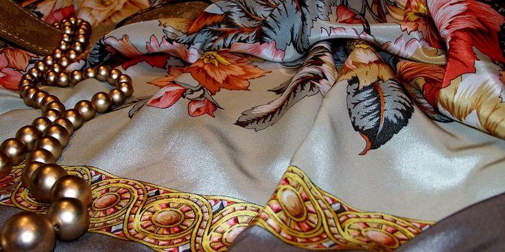 Silk #Russian #Shawl