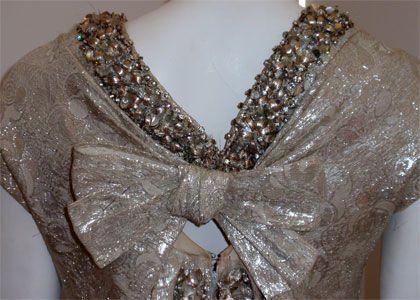Christian Dior Haute Couture Silver Sequin Gown, Circa 1965 9