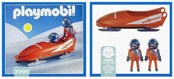 PLAYMOBILE Orange Bobsled 1997