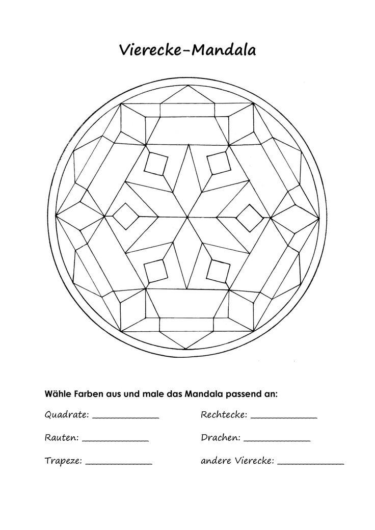 mandala ausmalbild zu speziellen vierecken quadrat