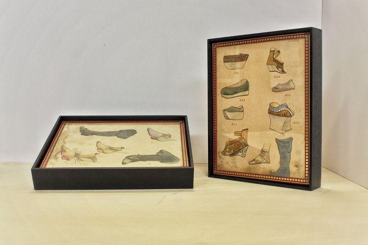 Lavoro svolto per una collezione di 25 disegni su carta e grafiche di proprietà della storica ditta Pompei.