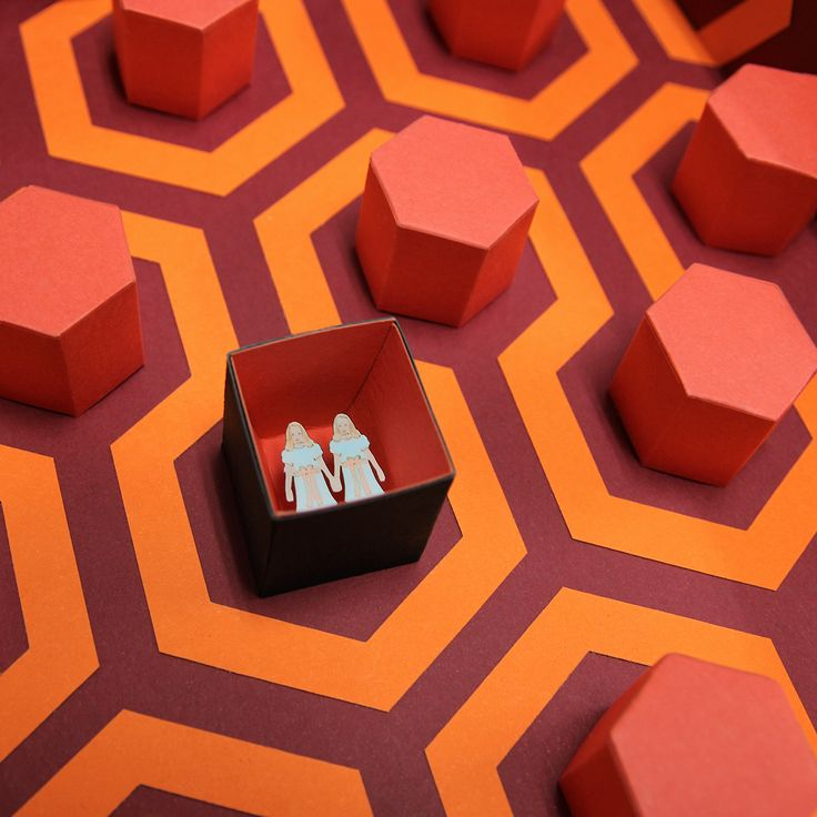 """RedRum - """" Come play with us. Forever…ever…ever """"  Three dimensional paper artwork inspired in Stanley Kubrick movie """"The Shining"""".  Limited edition, 100 copies. Take it in www.thesmallestboy.com/en/shop"""