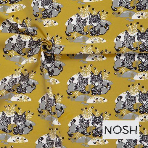Yellow ILVES jersey fabric, 95% Organic cotton, 5% Elastane