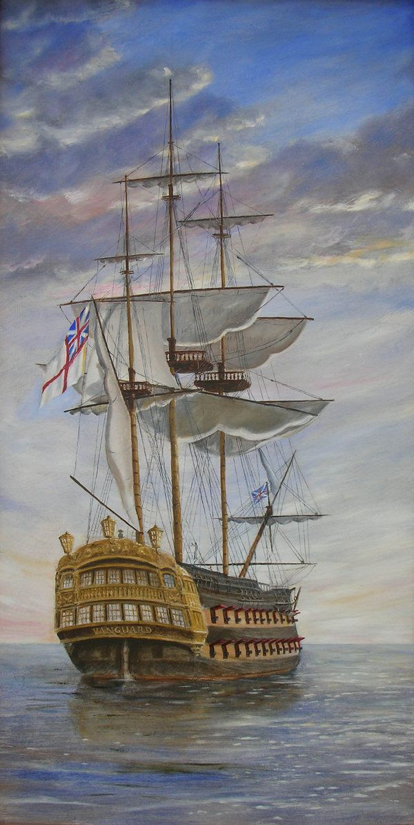 HMS Vanguard reworked by dashinvaine.deviantart.com on @deviantART - Admiral Nelson's ship from the Battle of the Nile in 1798