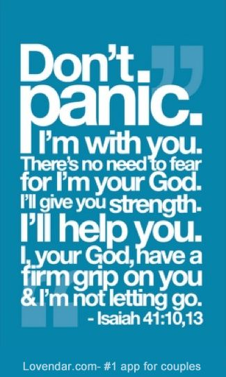 Not classic Isaiah ... But God would say something comforting like that all the same:)