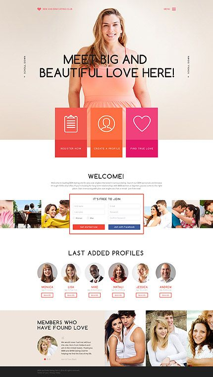 Dating •  Espresso Web Inspiration at your Coffee Break! Bootstrap • Template #58784