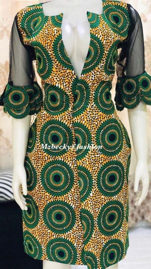 Epingle Sur Robe Africaine Droite