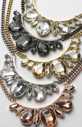 Crystal bib necklaces. So gorgeous & on sale for  only $29.90 http://rstyle.me/n/dgdt5n2bn