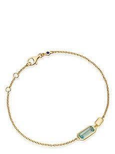 ASTLEY CLARKE 18ct gold vermeil aqua bracelet