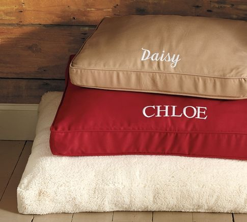 Personalized dog bed, \Christmas present we got for Vera. She LOVES IT!