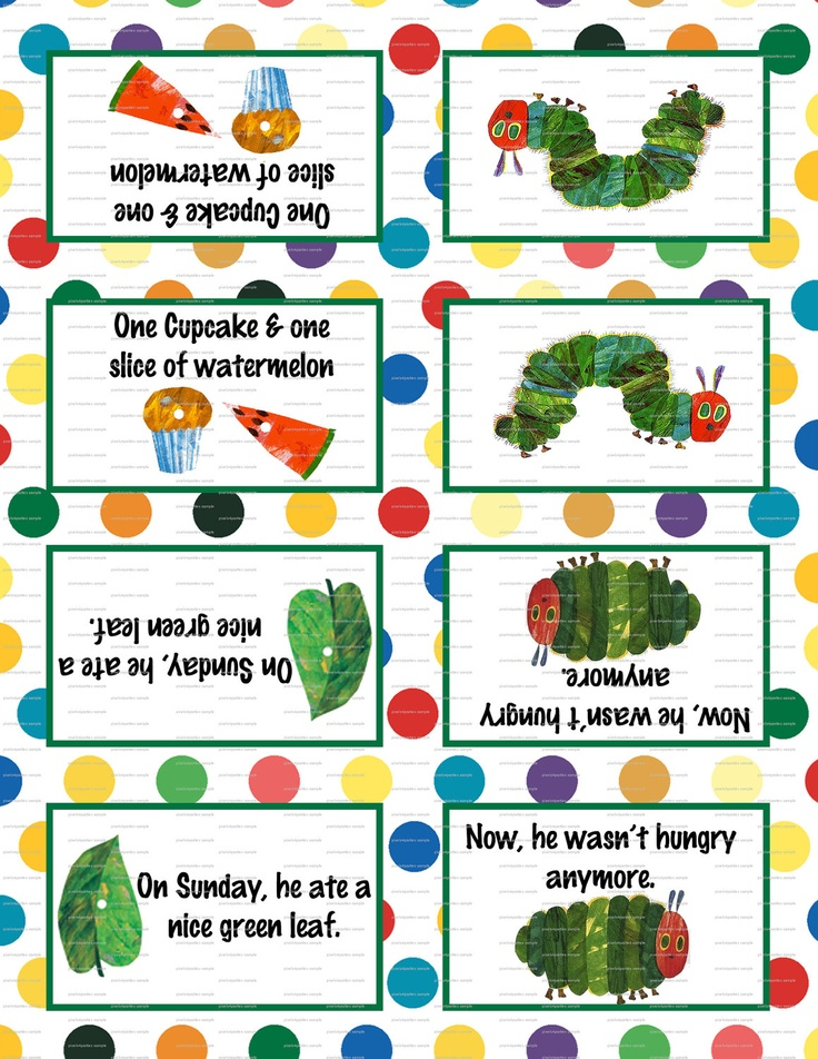 18%OFF SALE Very Hungry Caterpillar Birthday Party 3.5x5 Tent Labels for Food Tables, Candy Buffet Folding You Print. $3.69, via Etsy.