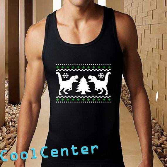 Ugly TREX Christmas men tank top print screen tank by CoolCenter