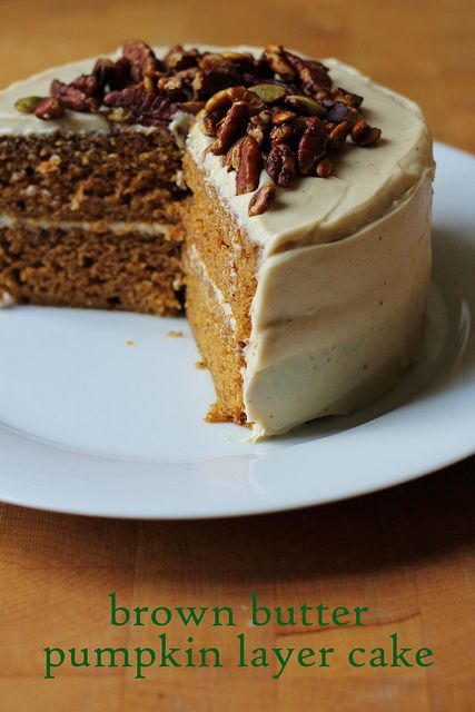 brown butter pumpkin layer cake by awhiskandaspoon, via Flickr....lots ...