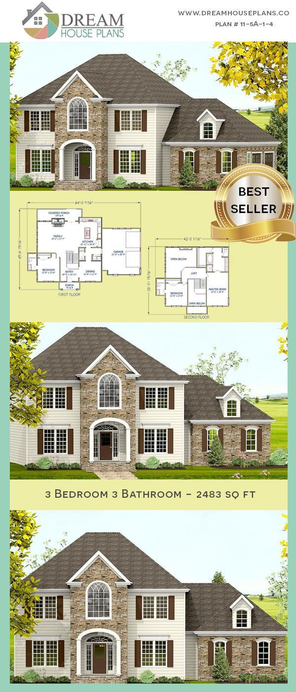 Dream House Plans Best Southern Living Family 3 Bedroom 2483 Sq Ft House Pla In 2020 Dream House Plans House Plans Affordable House Plans