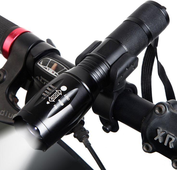 CREE LED biciklis zseblámpa