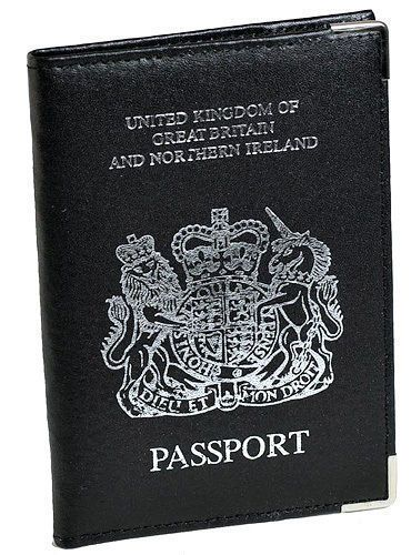 UK-Passport-Cover-PU-Leather-Wallet-Travel-Document-Organiser-Metal-Corners-ID