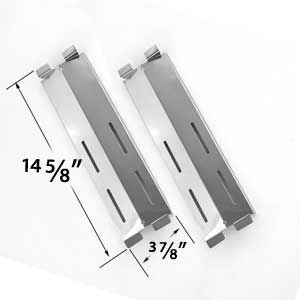 2 PACK STAINLESS STEEL HEAT PLATE FOR GAS GRILL MODELS BY COASTAL 9900, CRUISER, SUPREME, GRAND HALL MFA05ALP, PATIO RANGE, GRAND HALL, JAMIE DURIE PATIO KITCHEN 4 AND 6 BURNER, MEMBERS MARK M3206ALP, M3206ANG, PATIO RANGE SK472B, CG41064 AND